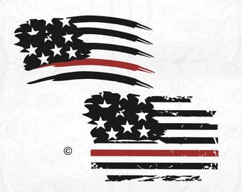 Firefighter svg, American flag svg, Fireman svg, Distressed svg, SVG Files, Cricut, Cameo, Cut file, Files, Clipart, Svg, DXF, Png, Pdf, Eps