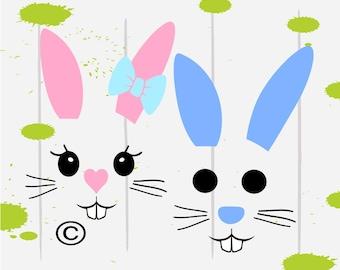 Easter svg, Easter Bunny svg, Bunny svg, Easter Basket svg, SVG Files, Cricut, Cameo, Cut file, Files, Clipart, Svg, DXF, Png, Pdf, Eps