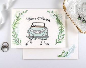 Custom Watercolor Wedding Card