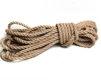 BDSM Rope, Shibari, Bondage Rope 8m Jute, kinbaku, shibari rope, bondage, bondage rope, bdsm bondage play, Shibari Jute rope, 100% jute