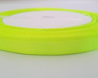 1 m neon yellow satin ribbon