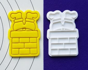 Jammed Santa Cookie Cutter and Stamp