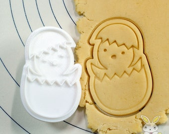 Chick hatching Cookie Cutter and Stamp