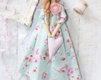 Decor-Boho doll, handmade doll, Tilda doll, Angel Doll, Angel Doll, Fielana Doll