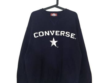 Vintage CONVERSE sweatshirt crewneck embroidered logo spell out