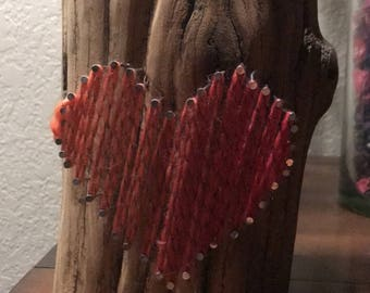 String heart candle