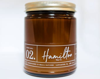Fresh Basil - 9 oz. Amber Glass Soy Wax Candle