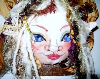 Quilted Fairy Wings Door Knob Hanger