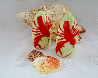 Carlton Ware Lobster Salt and Pepper Shakers, Made in England
