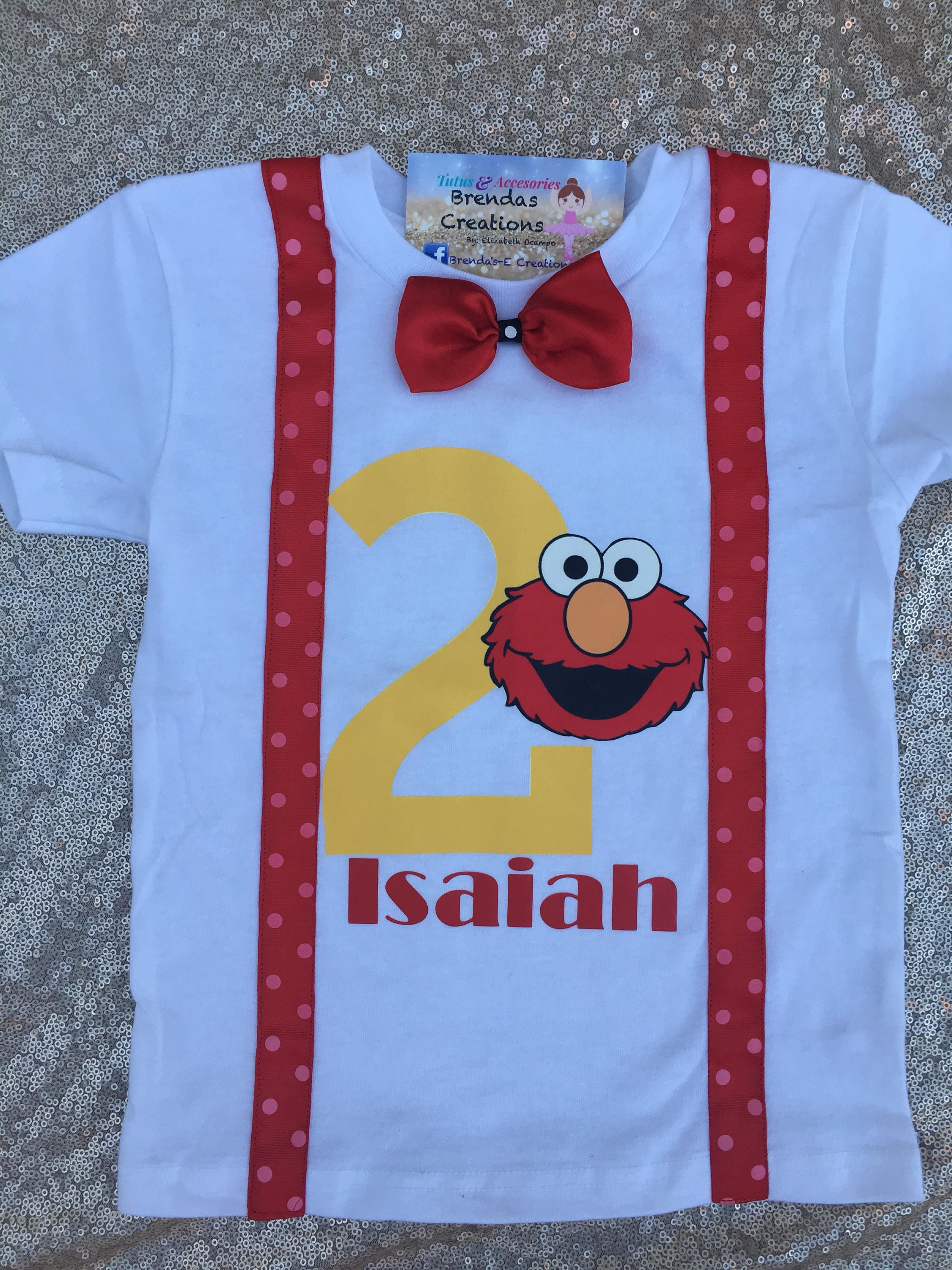 Elmo Birthday Shirt Sesame St Customized