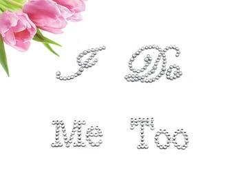 I Do Me Too Shoe Sticker, Wedding Shoe Stickers, Wedding Rhinestone Shoe Stickers, I Do Stickers, Groom Shoe Sticker, Bride Shoe Sticker