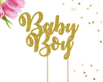 Baby Boy Cake Topper, Baby Shower Cake Topper, Gender Reveal Cake Topper, Baby Boy Party Decor, It's A Boy Cake Topper, Gender Reveal Decor