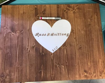Wooden Wedding Guest Book Alternative
