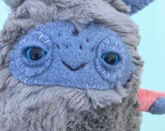 Medium Monster Plush// monster plush, monster stuffed animal, denton monster, monster stuffed toy, ooak plush, art toy, toy, ooak doll
