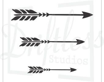 arrow stencil etsy. Black Bedroom Furniture Sets. Home Design Ideas