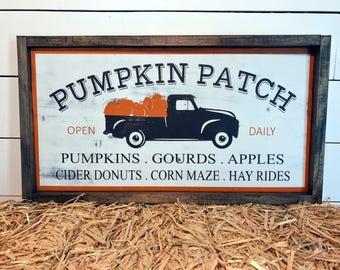 Vintage Pumpkin Patch Sign   Vintage Truck   Fall Signs   Rustic Fall Sign   Fall Decor   Autumn Decor   Harvest Decor   Thanksgiving Decor
