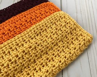 Crochet washcloths, Set of washcloths, Crochet dishcloths, Dish rags, Bath washcloths, Gift for mom, Cotton washcloths, Crochet dishrags
