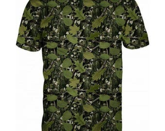 New ultramodern 3D  High Quality  Hunting Real Green Camouflage Mens short Sleeve  T-shirt