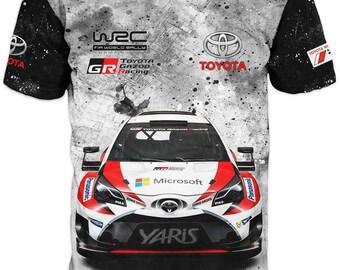 Unique 3D High Quality Formula 1 Toyota Mens  T-shirt