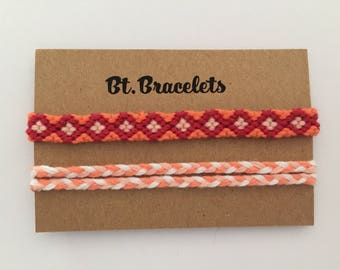 Friendship bracelets straps red/peach 2.00