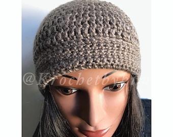 Crochet beanie hat/ Fall crochet beanie/ Winter crochet beanie/ Crochet fall accessory/ Crochet adult beanie