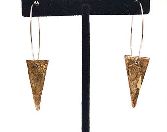 Triangle Birch Bark Earrings