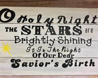 O holy night lyrics | Etsy