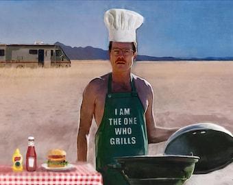 Walter White Heisenberg Heisenburgers Breaking Bad Humorous Satire