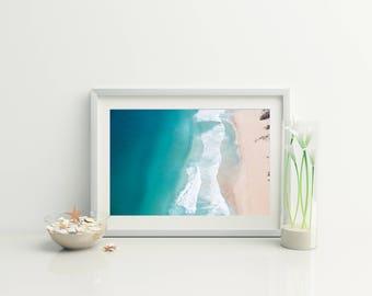 Beach Aerial Photo // Ocean Print // Beach Decor // Digital Beach Photo // Instant beach print // Ocean Photo // Photography //