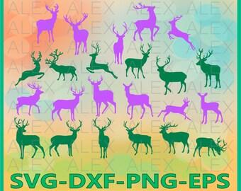 70% OFF, Deer SVG, Deer Silhouette png, eps, svg, dxf, Deer Clipart, Animals Silhouettes, Deer Files, Deer svg Cut File