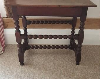 SOLD A 17th Century Bobbin Oak Side Table