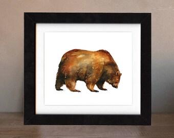 art, original, paintings, original art, bear, gift, bear painting, wall art, black bear, decor, spirit, totem, animal, wild, saltwatercolors