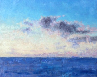 Original oil painting 'End of the day' on alluminium panel