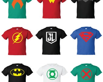 Custom Kids DC Justice League Character Tee