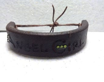 Personalizable Leather Bracelet