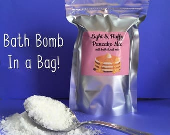 Fizzy Bath Mix - Light & Fluffy Pancake Bath Mix - Bath Bomb In A Bag - Bath Crumbles - LOW Introductory Price!
