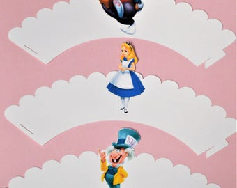 Alice in Wonderland Cupcake Wrappers (Set of 6)