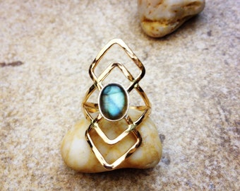 Labradorite 14k Gold Fill and Sterling Silver Ring