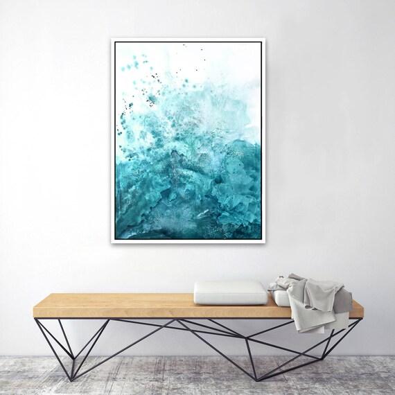 Water & Salt Teal - Framed Giclee Print
