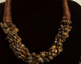 Tiger's Eye necklace set