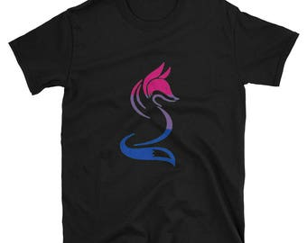 Bi Pride Fox Unisex T-Shirt lgbtq lgbt lgbtqipa queer gay transgender mogai bisexual