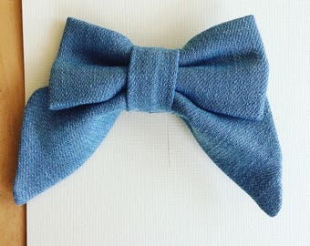 Light Denim Bow