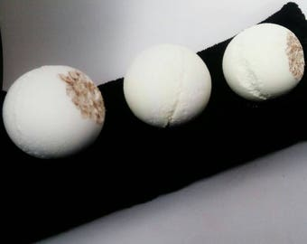 Goat's milk, honey and oatmeal bath bomb - gift for her -