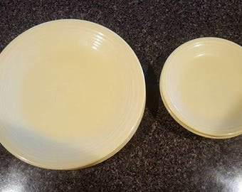 4 place setting Fiesta Dinner plates and Salad plates