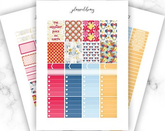 DISNEY Weekly Kit // Printable Planner Stickers / Erin Condren Plum Paper Happy Planner Kikki K Magic Kingdom Vacation Travel Easter March