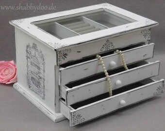 Jewelry box white jewelry box bird cage shabby chic ornaments with motif
