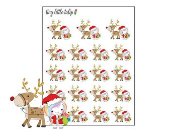 Planner Stickers Christmas Unicorn w/ Reindeer
