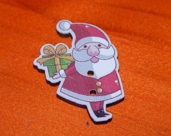 each Santa Claus button