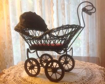 landau de poup e vintage poussette poupee ancienne d cor. Black Bedroom Furniture Sets. Home Design Ideas