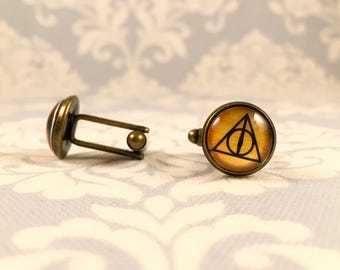 Harry Potter Deathly Hallows Cufflinks